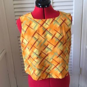 Vintage ladies silk top m petite by Via Seta